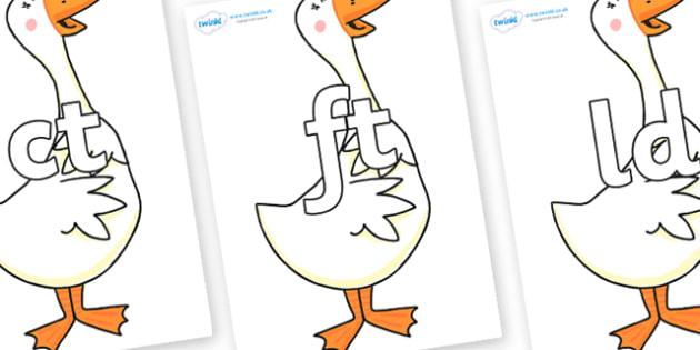 Final Letter Blends on Hullabaloo Goose to Support Teaching on Farmyard Hullabaloo - Final Letters, final letter, letter blend, letter blends, consonant, consonants, digraph, trigraph, literacy, alphabet, letters, foundation stage literacy