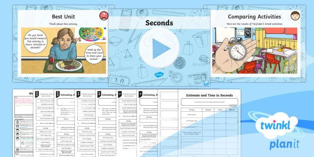 PlanIt Y3 Measurement Lesson Pack Estimate, Time and Compare (1) - measurement, time, time units, estimate, time, compare, seconds, timer, stopwatch, record and compar