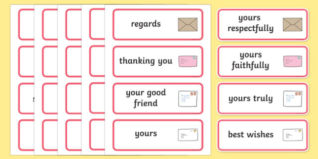 Letter Writing Word Cards - letter, word cards, writing, cards