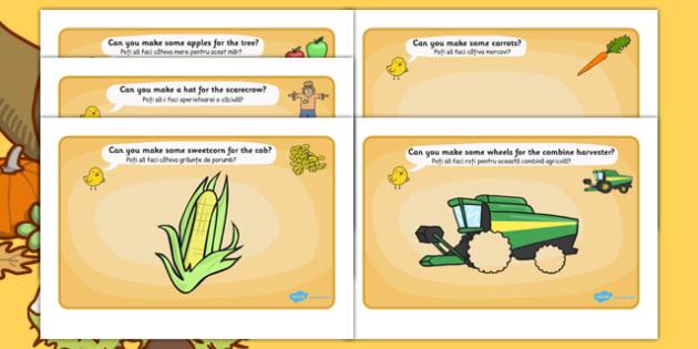 Harvest Playdough Mats Romanian Translation - romanian, harvest