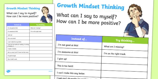 New Zealand Growth Mindset Activity Sheet, worksheet