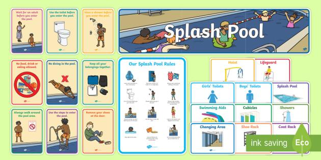 Splash Pool Primary Resource Pack - SEN Resources, Special Educational Needs, Special School, Splash Pool, Swimming, Display Pack, Physi