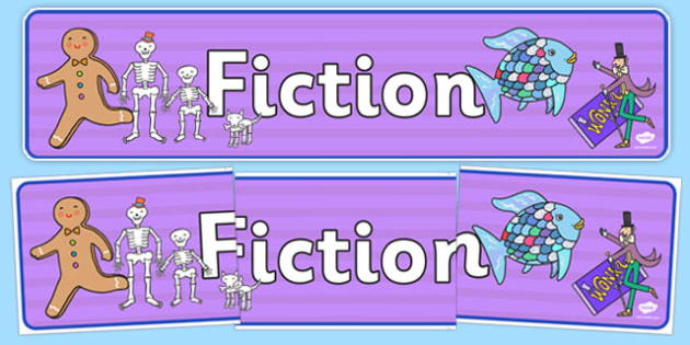 Fiction Display Banner - fiction, display banner, display, banner, reading, read, books