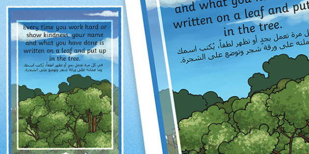 Achievement Tree Motivational Poster Arabic Translation - arabic, achievement, tree, poster