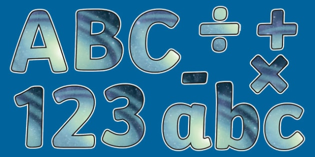 Earth and Space Themed Display Letters and Numbers Pack - Science lettering, Science display, Science display lettering, earth and space