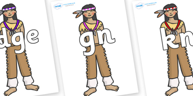 Silent Letters on Native Americans - Silent Letters, silent letter, letter blend, consonant, consonants, digraph, trigraph, A-Z letters, literacy, alphabet, letters, alternative sounds