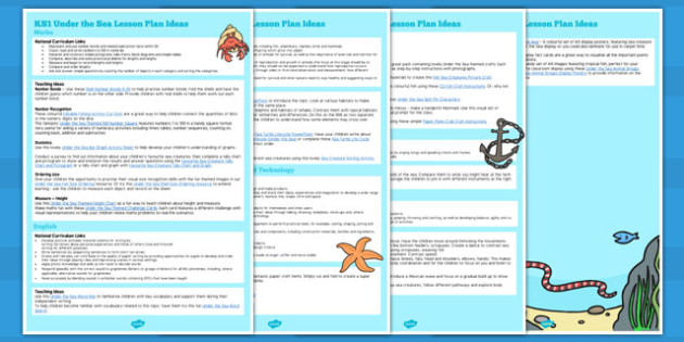 KS1 Under the Sea Lesson Ideas - under the sea, ks1, lesson ideas