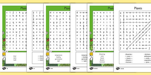 Plants Word Search - plants, wordsearch, word search, ks2, science, activity