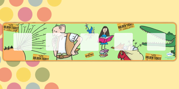 Roald Dahl Themed Visual Timetable Background - visual timetable, roald dahl, background, visual timetable background, dahl visual timetable background