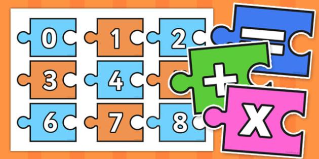 Calculation Jigsaw 0-20 - calculation, jigsaw, 0-20, puzzle, activity