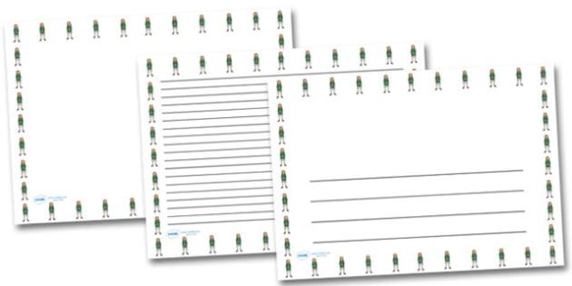 Refugee Girl Landscape Page Borders- Landscape Page Borders - Page border, border, writing template, writing aid, writing frame, a4 border, template, templates, landscape