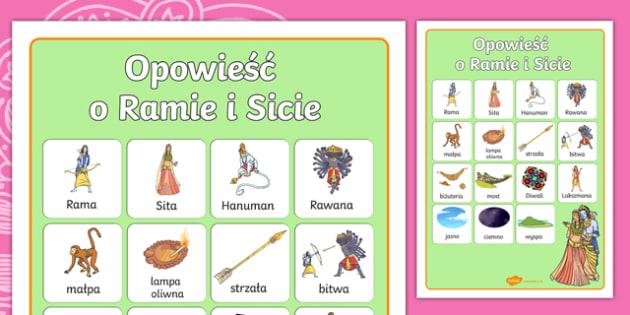 Plakat Opowieść o Ramie i Sicie