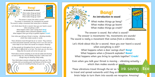 Make a Noise! An Introduction to Sound A4 Display Poster - Make a Noise! science, noise, STEM