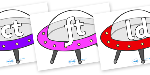 Final Letter Blends on Spaceships - Final Letters, final letter, letter blend, letter blends, consonant, consonants, digraph, trigraph, literacy, alphabet, letters, foundation stage literacy
