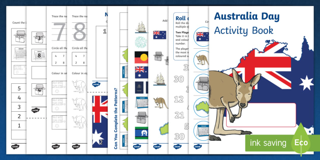 Australia Day Activity Booklet - australia, activity, booklet