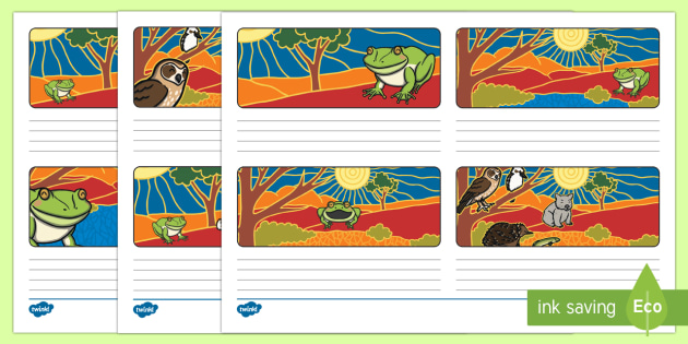 Tiddalick the Frog Storyboard Template