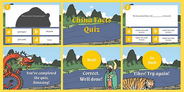 China PowerPoint Quiz - china, powerpoint, quiz, game, activity
