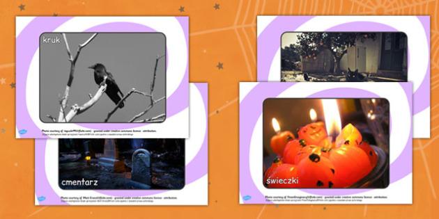 Materiały na gazetkę ścienną Halloween po polsku - zdjęcia