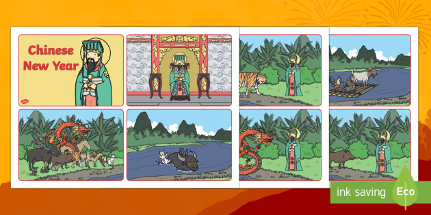 Chinese New Year Story Sequencing Cards
