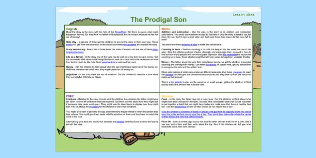 The Prodigal Son Lesson Plan Ideas KS1 - lesson plan, ideas, KS1