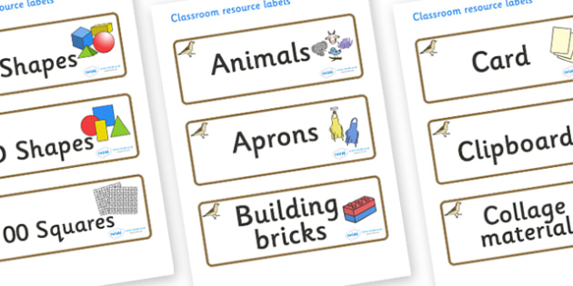 Sparrow Themed Editable Classroom Resource Labels - Themed Label template, Resource Label, Name Labels, Editable Labels, Drawer Labels, KS1 Labels, Foundation Labels, Foundation Stage Labels, Teaching Labels, Resource Labels, Tray Labels, Printable l