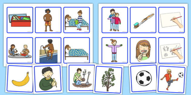 2 Step Sequencing Cards - 2 step, sequencing, cards, sequencing cards, 2, step