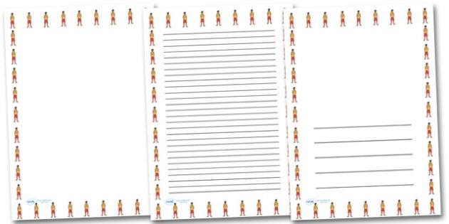 Male Lifeguard Portrait Page Borders- Portrait Page Borders - Page border, border, writing template, writing aid, writing frame, a4 border, template, templates, landscape