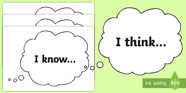 I Think, I Know, I Wonder Display Cut-Outs - IDL Resources, I think I know I wonder, KWL planning, topic planning, pupil voice, topic introductio