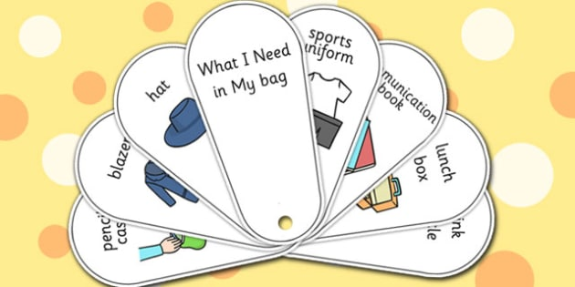 What I Need in My Bag Communication Fan Set - SEN, preparation