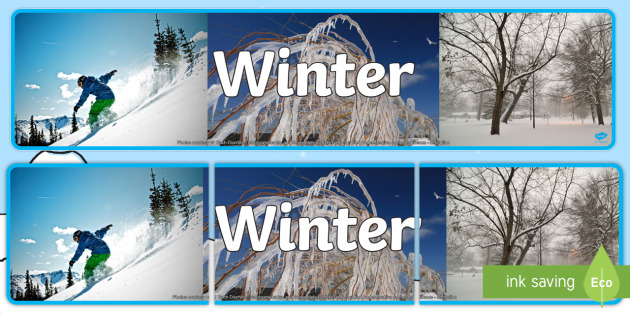 Four Seasons: Winter Display Banner - display banner, winter, four seasons, decor, photos