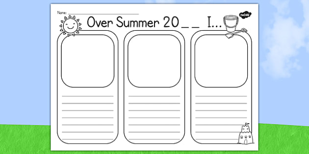 Summer Holiday Writing Template - Holidays, Writing Frames