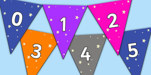 Stars Themed 0 31 Bunting - stars themed, stars bunting, 0-31 on bunting, numberline bunting, stars numberline bunting, bunting