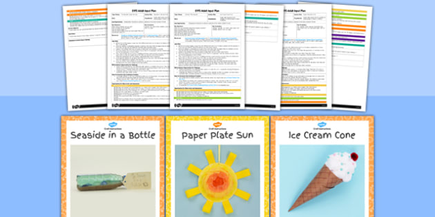 EYFS Seaside Themed Craft Activity and Accompanying Planning Pack