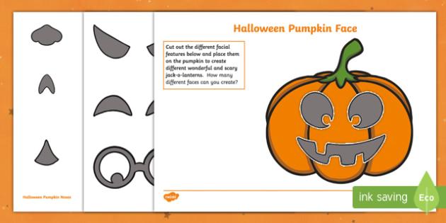 Halloween Pumpkin Face Activity