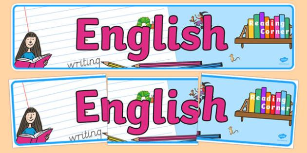 EYFS English Display Banner - literacy, writing, reading, display, classroom, early years