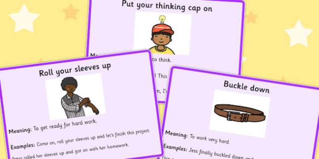Clothes Idioms Meaning Cards - Clothes, Idioms, Meaning, Cards