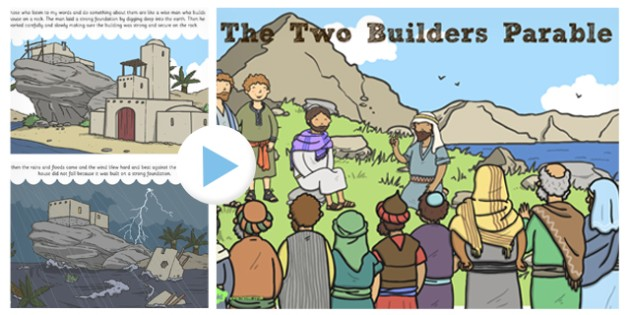 The Two Builders Parable PowerPoint - parables, two builders
