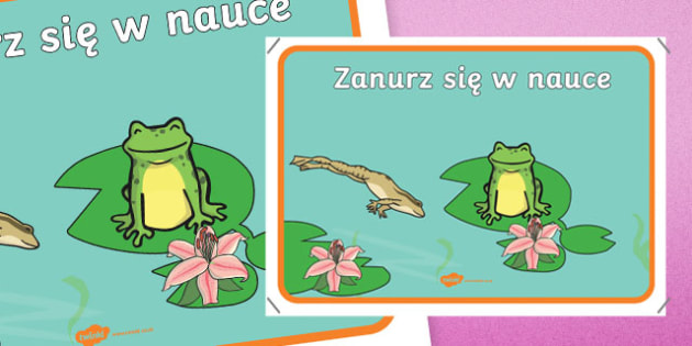 Plakat motywacyjny Zanurz się w nauce po polsku