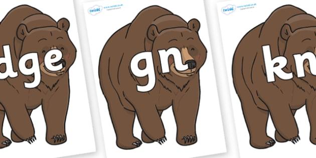 Silent Letters on Bear - Silent Letters, silent letter, letter blend, consonant, consonants, digraph, trigraph, A-Z letters, literacy, alphabet, letters, alternative sounds