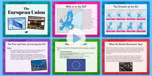 European Union and Referendum Presentation - european union, referendum