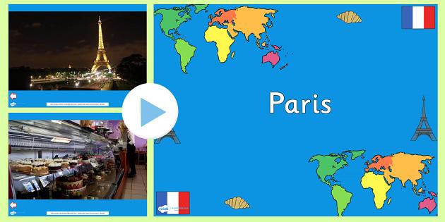 Paris Video PowerPoint - paris, france, paris powerpoint, paris videos, france videos, eiffel tower video, notre dame video, croissants video, places
