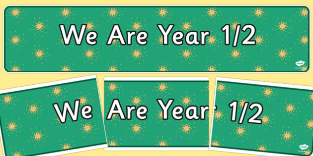 We Are Year 1 and 2 Display Banner - display banner, year 1, year 2