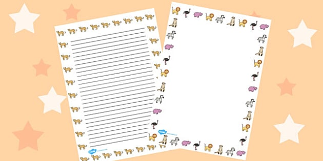 Africa Full Page Borders - page border, border, frame, writing frame, africa, countries, africa page borders, africa pages, africa template, writing template, writing aid, writing, A4 page, page edge, writing activities, lined page, lined pages