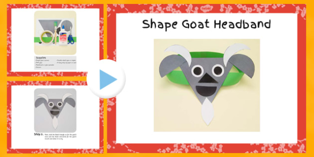 Shape Goat Headbands Craft Instructions PowerPoint - craft, shape, goat, headbands, instructions, powerpoint