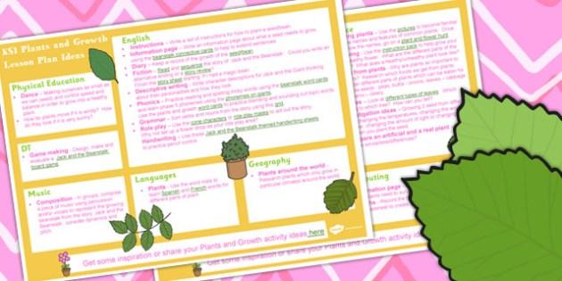Plants and Growth KS1 Lesson Plan Ideas - lesson plan, ideas, ks1