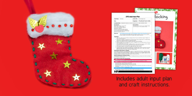 Felt Stockings Craft Adult Input Plan and Resource Pack