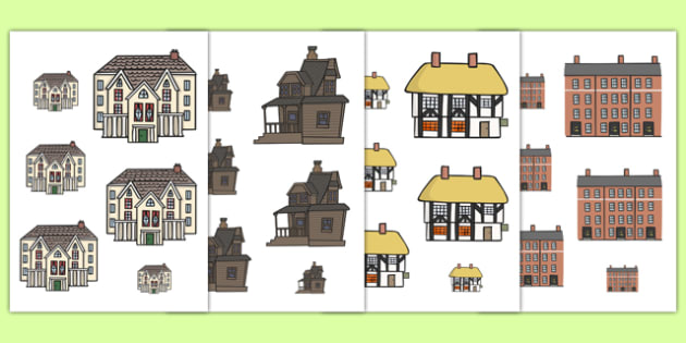 Houses and Homes Size Ordering - house, home, size order, shape