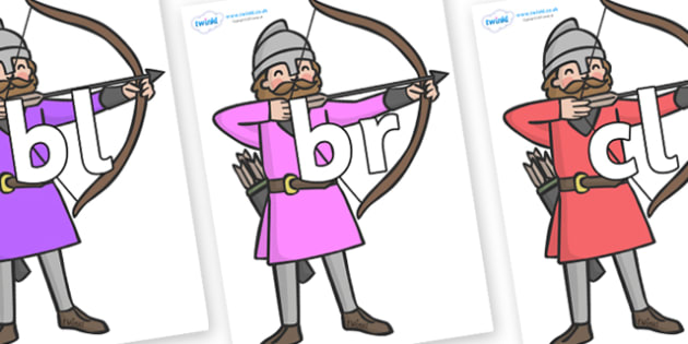 Initial Letter Blends on Archers - Initial Letters, initial letter, letter blend, letter blends, consonant, consonants, digraph, trigraph, literacy, alphabet, letters, foundation stage literacy