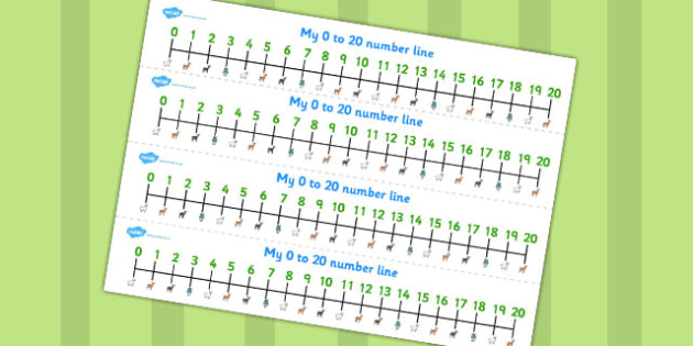 The Three Billy Goats Gruff Number Lines 0-20 - number lines, 20