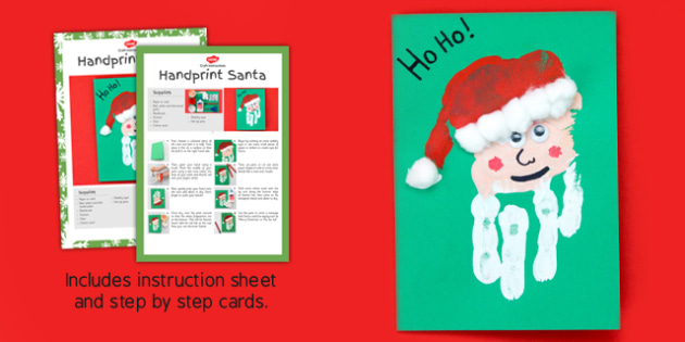 Handprint Santa Craft Instructions - handprint, santa, craft, instructions